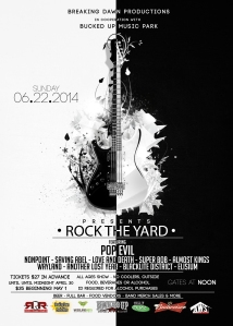 Rock The Yard Festival Poster