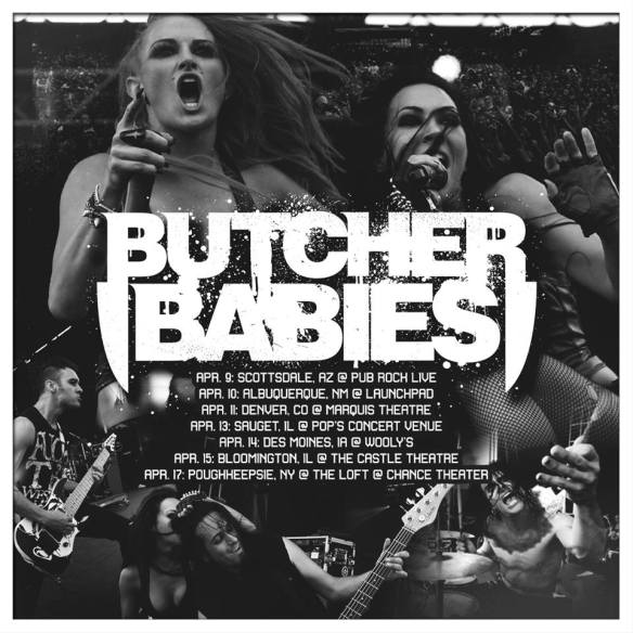 Butcher Babies Spring Tour Poster 1