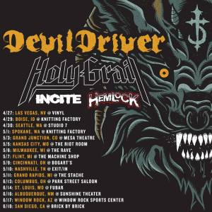 Holy Grail Devildriver Tour Poster