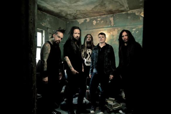 "KORN pictured l to r is Reginald ""Fieldy"" Arvizu, Jonathan Davis, Brian ""Head"" Welch, Ray Luzier and James ""Munky"" Shaffer"