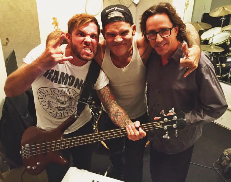 Photo Credit: Ultra Sound Studios L - R: Chris Clemence, Harley Flanagan, Ray Castoldi writing 'Let's Go' in New York City.