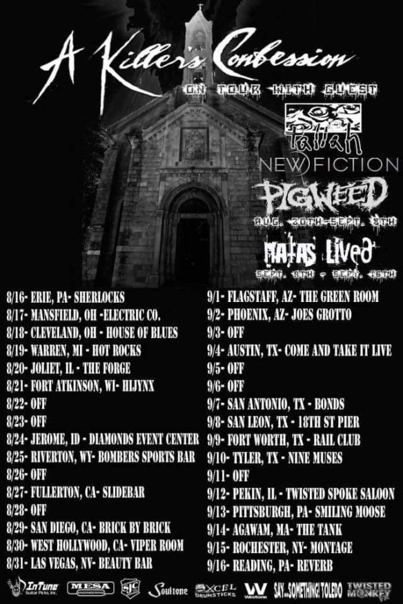A Killers Confession Tour Poster
